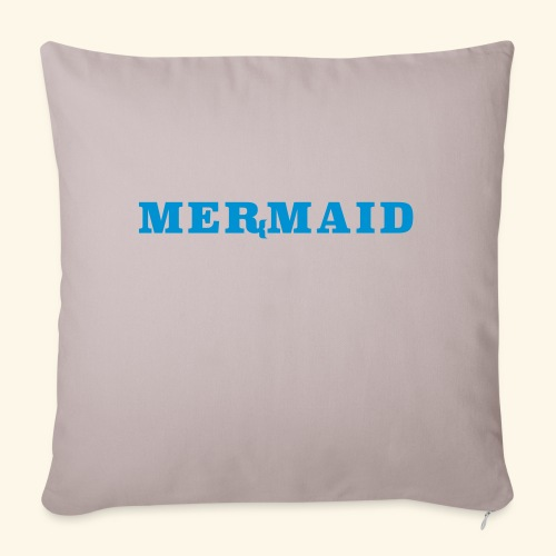 Mermaid logo - Soffkuddsöverdrag, 45 x 45 cm