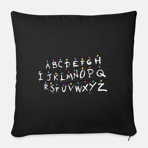 Stranger Things Alphabet - Sofa pillowcase 17,3'' x 17,3'' (45 x 45 cm)