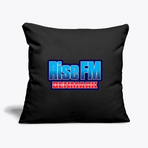 Rise FM Denmark Text Only Logo - Sofa pillowcase 17,3'' x 17,3'' (45 x 45 cm)