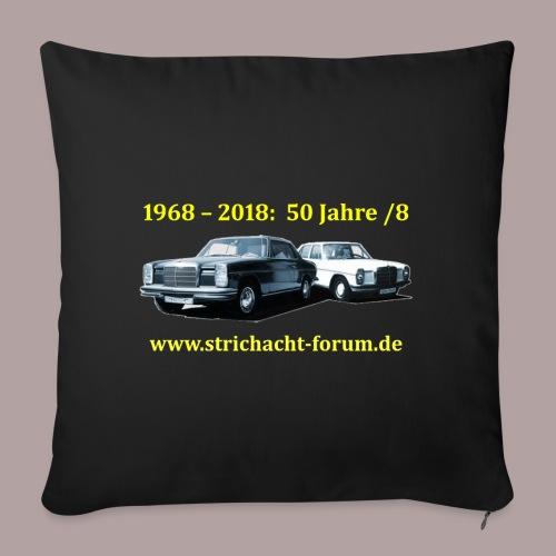 50jahre /8 strichacht-forum.de in gelb - Sofakissenbezug 44 x 44 cm