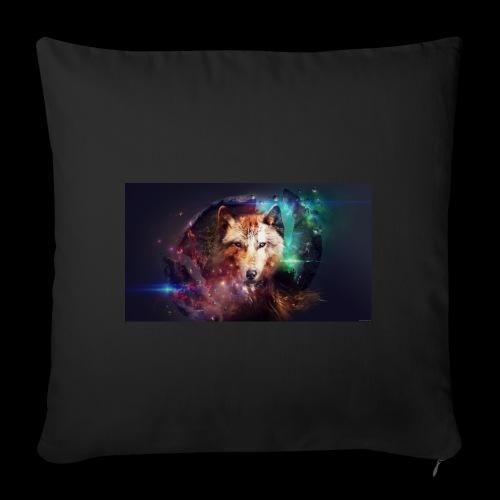 Lobo extraordinario - Funda de cojín, 45 x 45 cm
