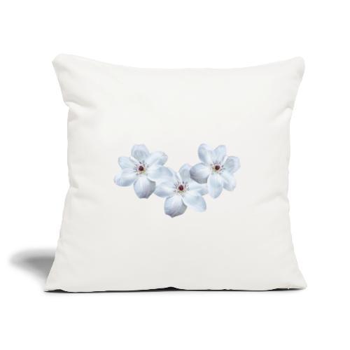 Jalokärhöt, valkoinen - Sohvatyynyn päällinen 45 x 45 cm