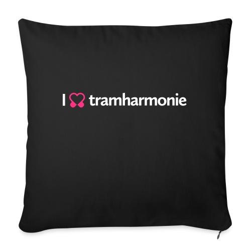 tramharmonie logo wit letters - Sierkussenhoes, 45 x 45 cm