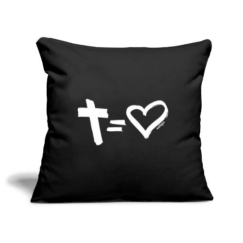 Cross = Heart WHITE // Cross = Love WHITE - Sofa pillowcase 17,3'' x 17,3'' (45 x 45 cm)