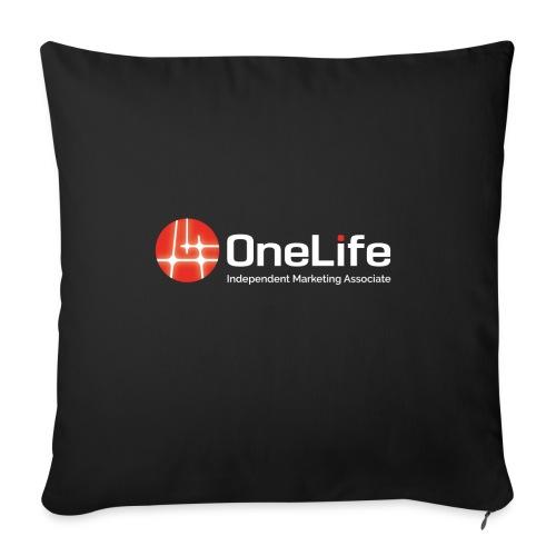 onelife ima logo dark bac - Sofa pillowcase 17,3'' x 17,3'' (45 x 45 cm)