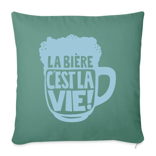 bière, la bière c'est la vie - Housse de coussin décorative 45x 45cm