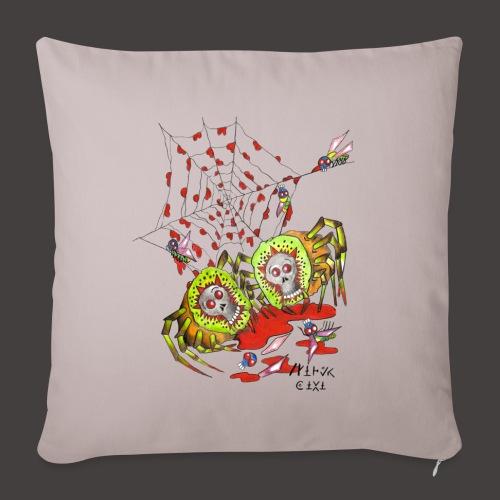 SPIDER KIWI - Housse de coussin décorative 45x 45cm
