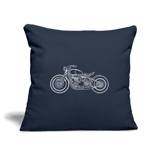 Bonneville Bobber Moto - Housse de coussin décorative 45x 45cm