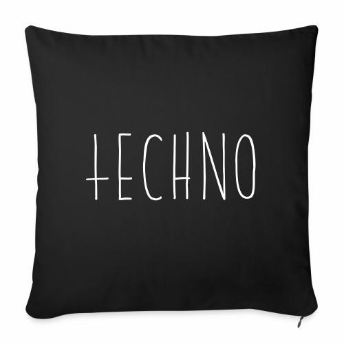 Techno Hand Schrift Text Kreuz Raver Party Musik - Sofakissenbezug 44 x 44 cm