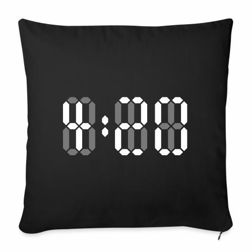 420 Clock Digital Uhr 4:20 Cannabis Hanf Kiffen - Sofakissenbezug 44 x 44 cm