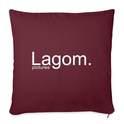 Lagom Pictures Logo Light - Sofa pillowcase 17,3'' x 17,3'' (45 x 45 cm)