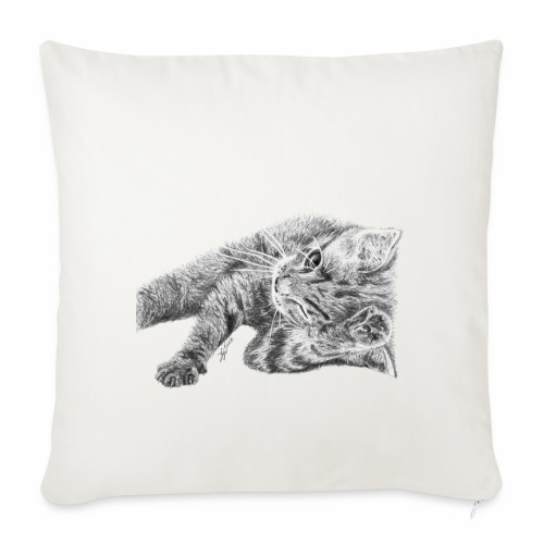 Small kitten in gray pencil - Sofa pillowcase 17,3'' x 17,3'' (45 x 45 cm)