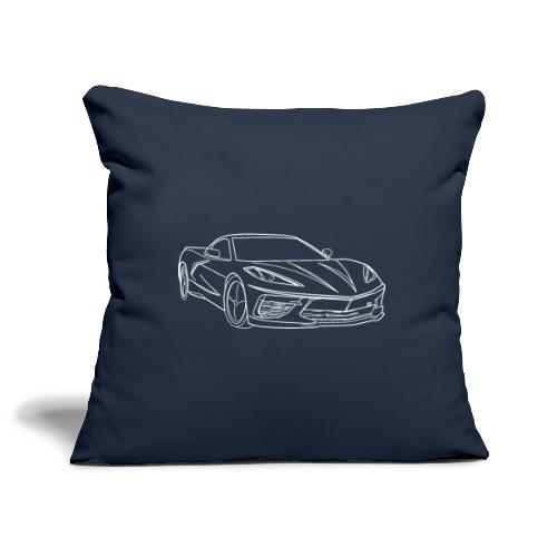voiture de sport stingray - Housse de coussin décorative 45x 45cm