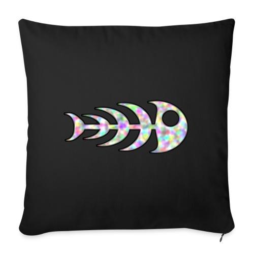 fish legs in rainbow colors - Sofa pillowcase 17,3'' x 17,3'' (45 x 45 cm)