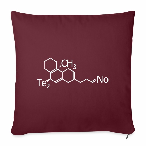 Techno Molekül Chemie Elemente Afterhour Clubbing - Sofakissenbezug 44 x 44 cm