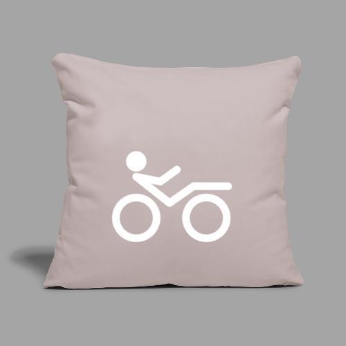 Recumbent bike white 2 - Sohvatyynyn päällinen 45 x 45 cm