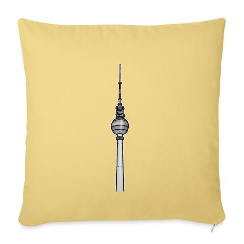 Torre della televisione di Berlino c - Copricuscino per divano, 45 x 45 cm