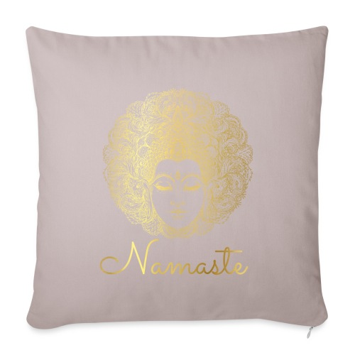 Namaste Yoga Goddess - Sofa pillowcase 17,3'' x 17,3'' (45 x 45 cm)