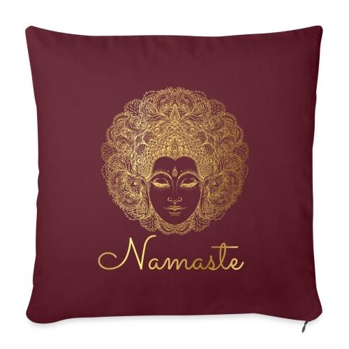 Namaste Yoga Goddess - Sofa pillowcase 17,3'' x 17,3'' (45 x 45 cm)