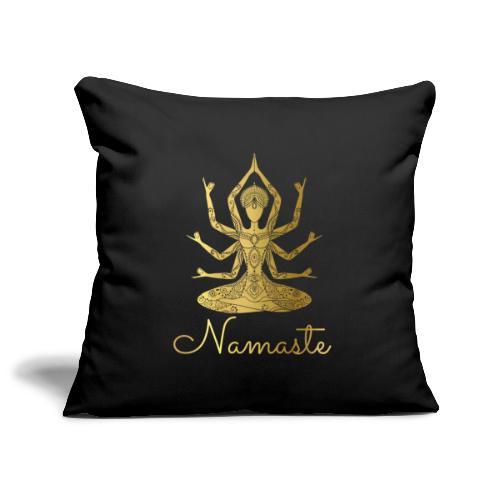 Namaste Meditation Yoga Sport Fashion - Sofakissenbezug 44 x 44 cm