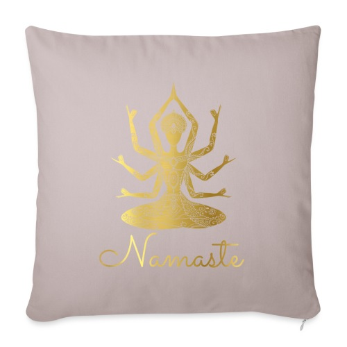 Namaste Godess - Sofa pillowcase 17,3'' x 17,3'' (45 x 45 cm)