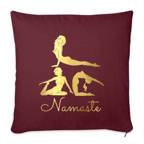 Namaste Yoga Asanas - Sofa pillowcase 17,3'' x 17,3'' (45 x 45 cm)