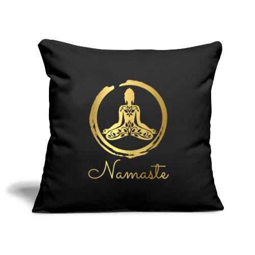 Yoga Buddha - Sofa pillowcase 17,3'' x 17,3'' (45 x 45 cm)