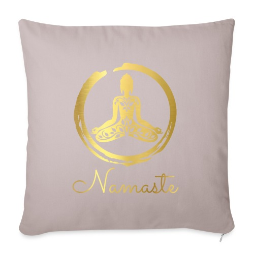 Yoga Buddha - Sofa pillowcase 17,3'' x 17,3'' (45 x 45 cm)