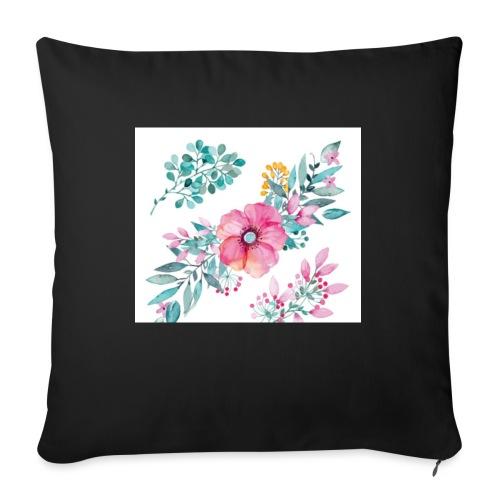 Fleurs - Housse de coussin décorative 45x 45cm