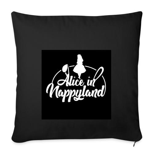Alice in Nappyland TypographyWhite 1080 - Sofa pillowcase 17,3'' x 17,3'' (45 x 45 cm)