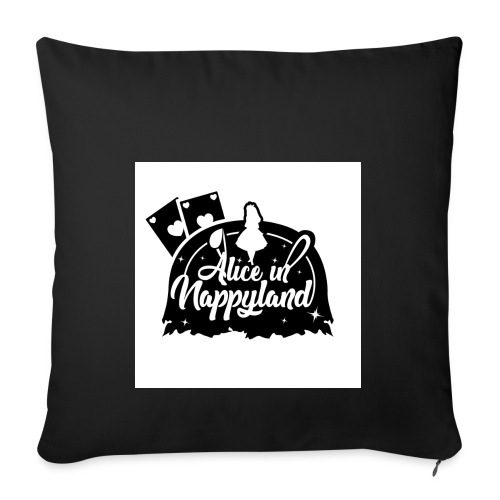 Alice in Nappyland TypographyWhite with background - Sofa pillowcase 17,3'' x 17,3'' (45 x 45 cm)