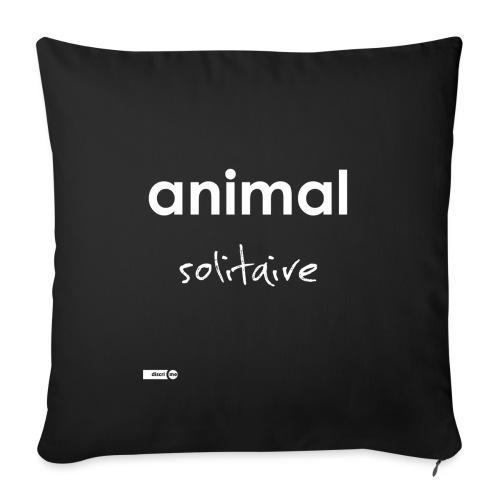 animal solitaire - Housse de coussin décorative 45x 45cm