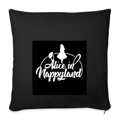 Alice in Nappyland TypographyWhite 1080 - Sofa pillowcase 17,3'' x 17,3'' (45 x 45 cm)