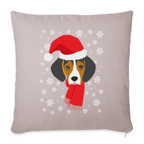 Perrito beagle vestido de Papá Noel - Funda de cojín, 45 x 45 cm