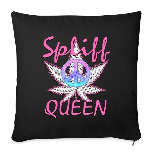 Pink Spliff Queen Peace Zeichen Cannabis Blatt - Sofakissenbezug 44 x 44 cm