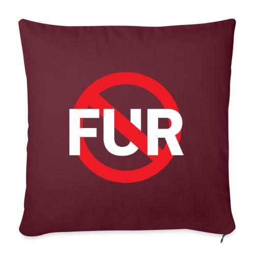 Fuck fur! White - Soffkuddsöverdrag, 45 x 45 cm