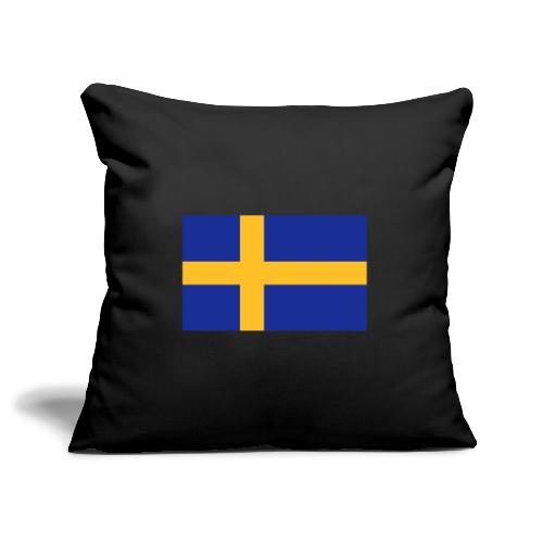 Svenska flaggan - Swedish Flag - Soffkuddsöverdrag, 45 x 45 cm