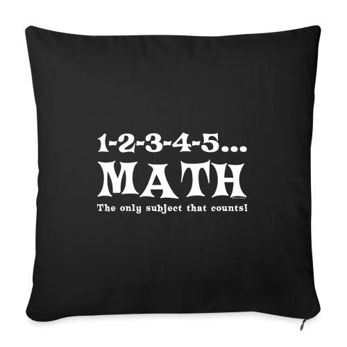 White Math Counts - Sofa pillowcase 17,3'' x 17,3'' (45 x 45 cm)