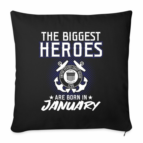 The Biggest Heroes Are Born In January - Sofakissenbezug 44 x 44 cm