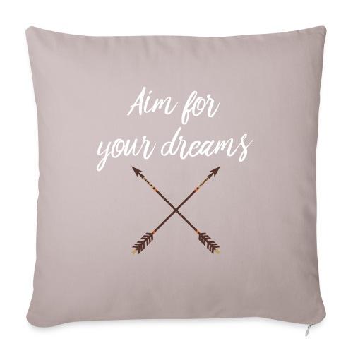 Aim for your Dreams white - Sohvatyynyn päällinen 45 x 45 cm