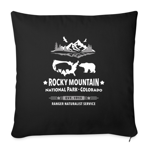 Rocky Mountain Nationalpark Berg Bison Grizzly Bär - Sofa pillowcase 17,3'' x 17,3'' (45 x 45 cm)