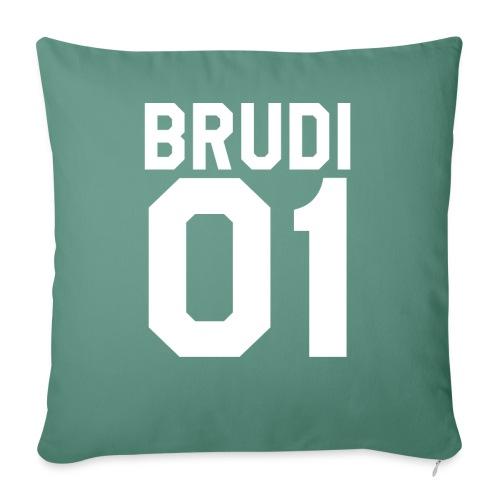Brudi 01 Geschwister Beste Freunde Partnerlook - Sofakissenbezug 44 x 44 cm