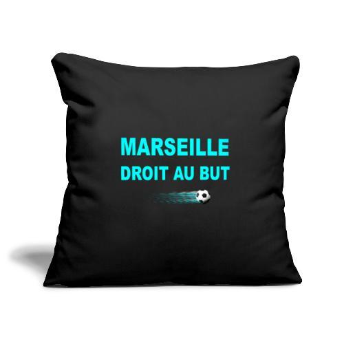 MARSEILLE DROIT AU BUT - Housse de coussin décorative 45x 45cm