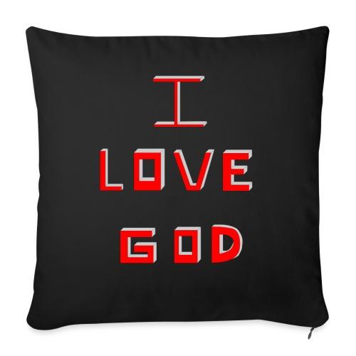 I LOVE GOD - Funda de cojín, 45 x 45 cm