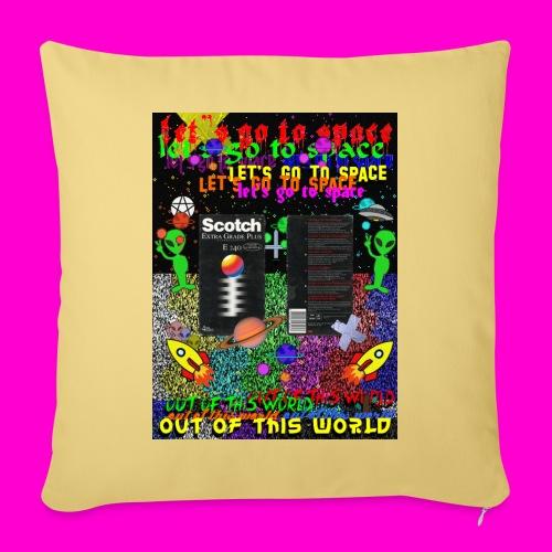 LET S GO TO SPACE - Sofa pillowcase 17,3'' x 17,3'' (45 x 45 cm)