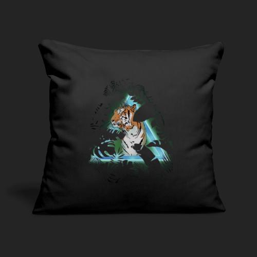 Tigre en soirée - Housse de coussin décorative 45x 45cm