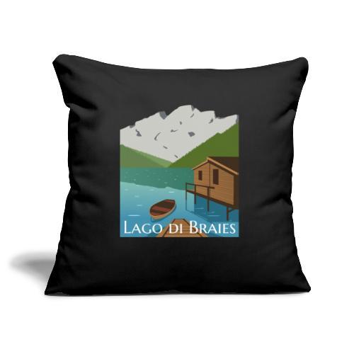 Illustrazione Lago di Braies - Copricuscino per divano, 45 x 45 cm