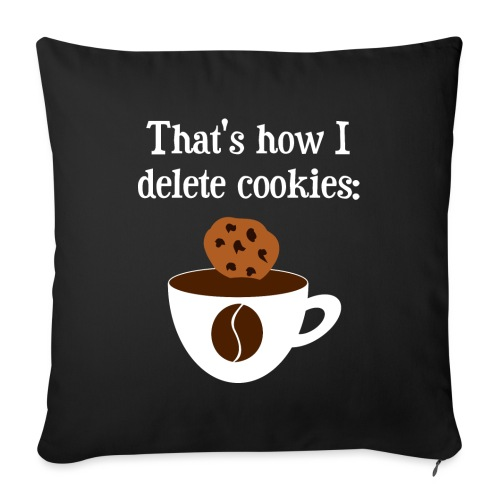 Cookies Kaffee Nerd Geek - Sofakissenbezug 44 x 44 cm