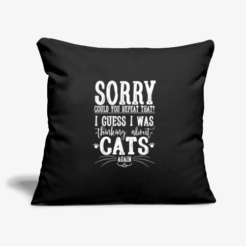 Sorry Cats II - Sohvatyynyn päällinen 45 x 45 cm