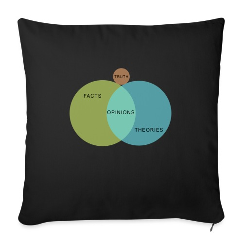 Ven Diagram Truth - Sofa pillowcase 17,3'' x 17,3'' (45 x 45 cm)